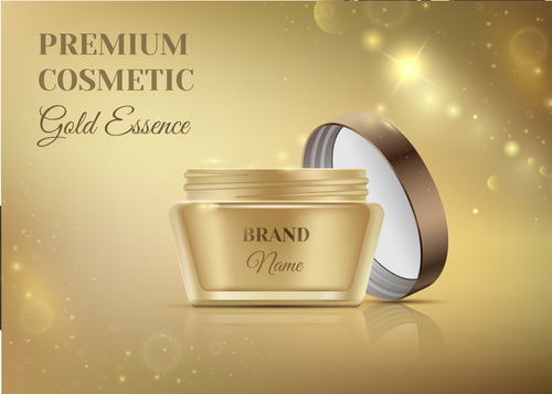 Premium cosmetic advertising vector