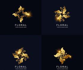 Pretty floral logo vector