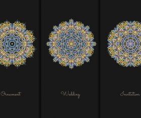 Pretty mandala pattern vector