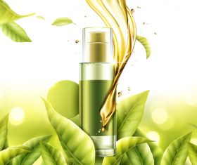 Pure natural essence advertising vector
