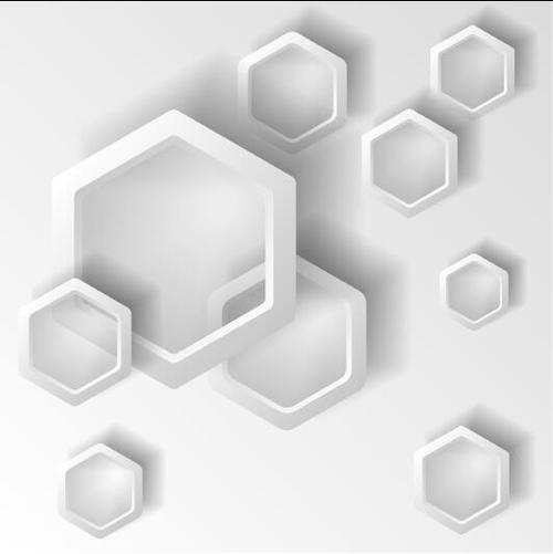Quadrangle frame abstract background vector