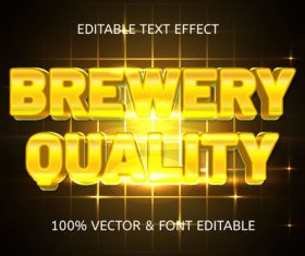 Quality brewery style luxury editable text effect vector