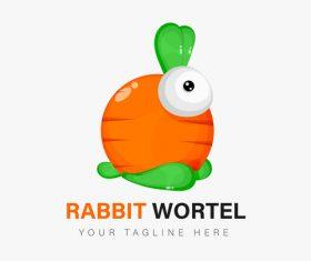 Rabbit wortel icon vector