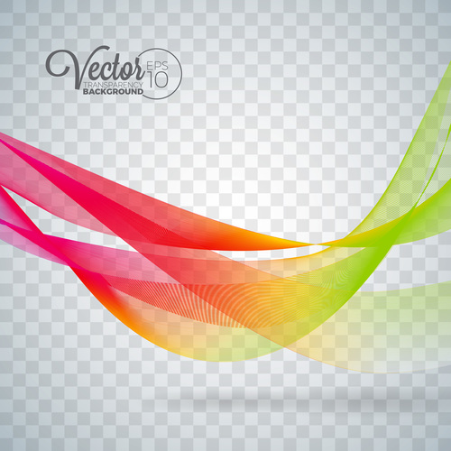 Red and green lines abstract background vector