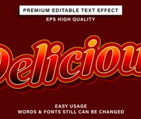 Red text font style vector