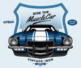 Retro car brand vector