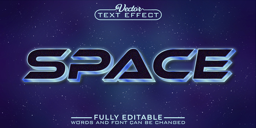 SPACE vector editable text effect