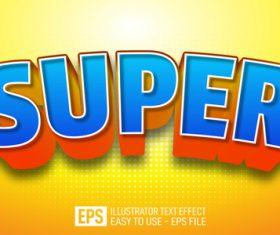 SUPER vector editable text effect