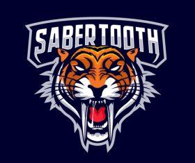 Sabertooth icon vector