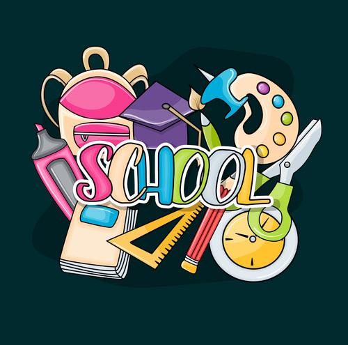 School card vector