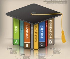 School infographic background vector