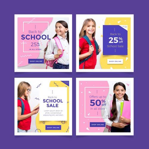 School utensils half price sale vector