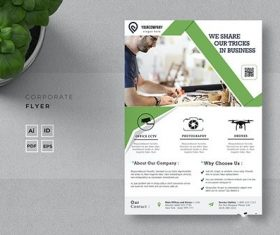 Share our tips corporate flyer vector