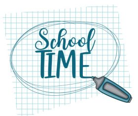 Simple welcome back to school card vector