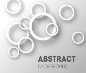 Size white circle background vector