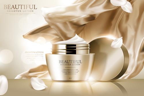 Skin care advertising vector