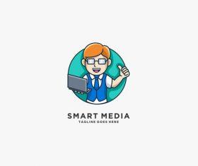 Smart media icon vector