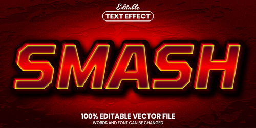 Smash text font style vector