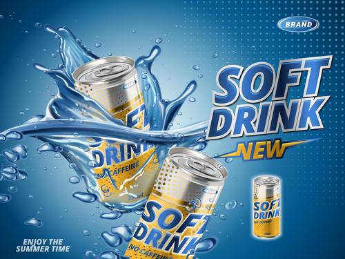 Soft drink advertising vector