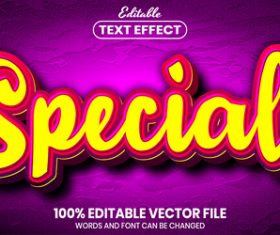 Special text font style vector