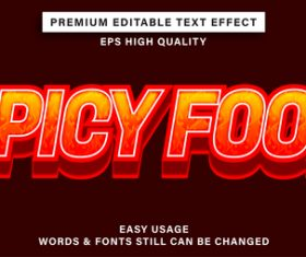 Spicyfood text font style vector