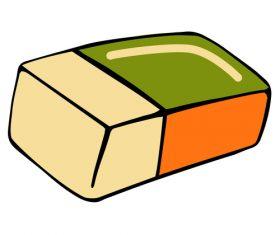 Square eraser vector
