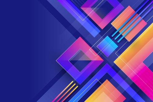 Squares abstract gradient background vector