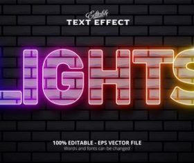 Stack text effect vector