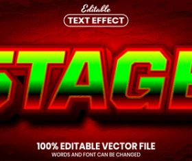 Stage text font style vector