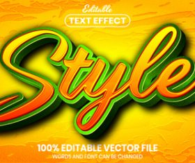 Stain text effect vector