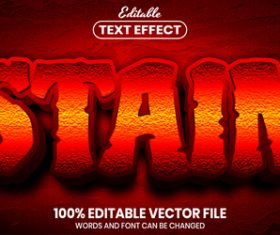 Stain text font style vector