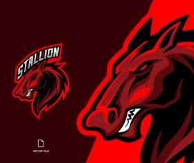 Stallion sport logo vector