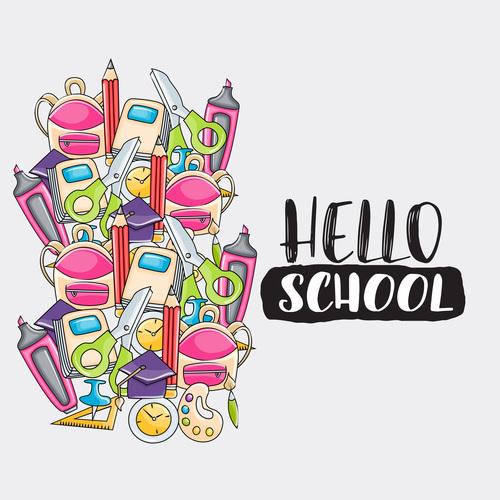 Sticker back to school vector