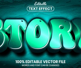 Story text font style vector