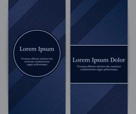 Striped dark blue seamless background vector