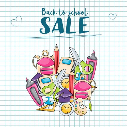 Student supplies big sale vector