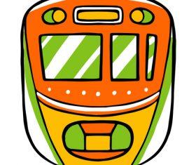 Subway cartoon vector
