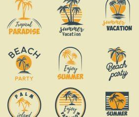 Summer vacation logo vector