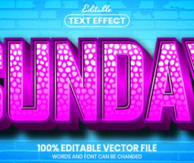 Sunday text font style vector