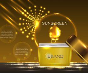 Sunscreen cream advertising vector