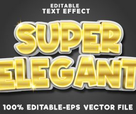 Super gold with fancy luxury gold style vector