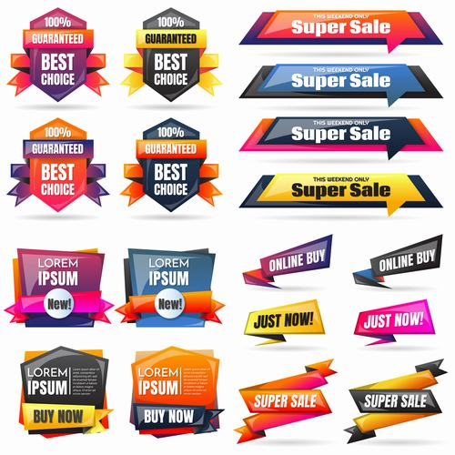 Super sale commercial label design vector