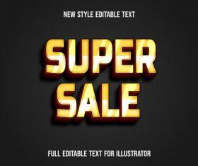 Super sale new style editable text vector