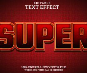 Super vector text effect