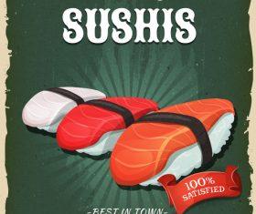 Sushis flyer vector