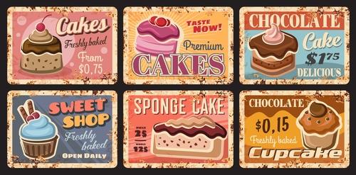 Sweet shop advertisement vector