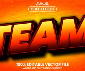 Team text font style vector