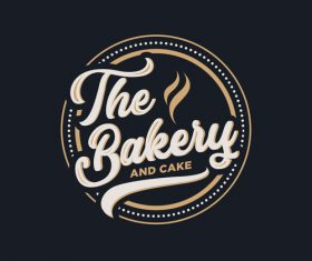 The bakery and cake logo vector