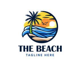 The beach logo vector