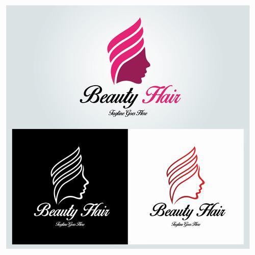Three beauty Hair logo vector